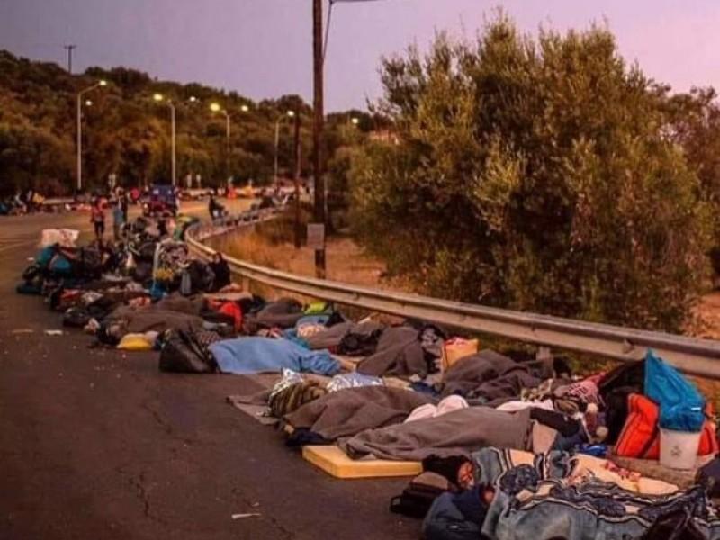 Detienen a cinco sospechosos del incendio en campo de refugiados
