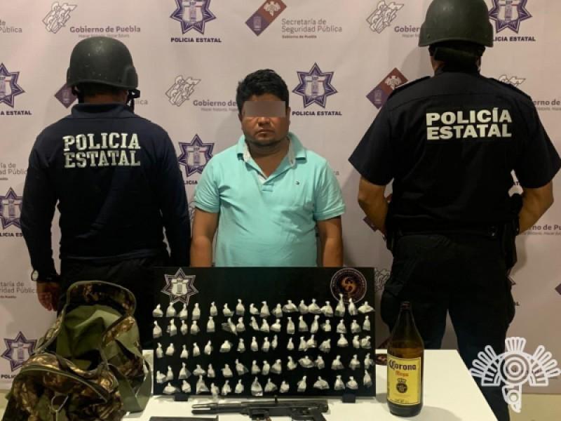Detienen a delincuente en estado de ebriedad en Ajalpan