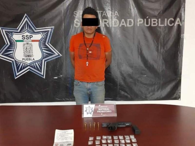 Detienen a líder de banda criminal en Texmelucan