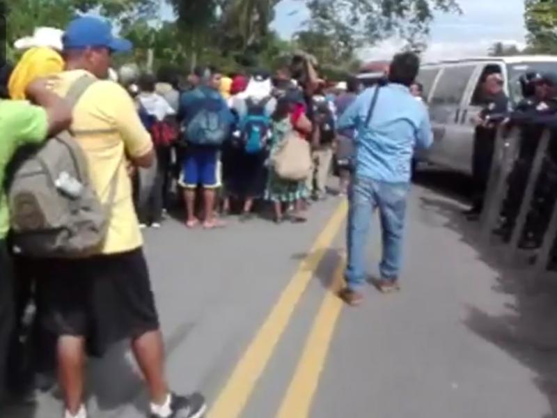 Detienen a migrantes de la Sexta Caravana Migrante