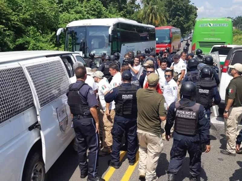Detienen a migrantes en Tapachula