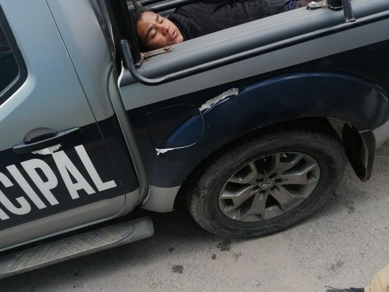 Detienen a presunto asaltante en municipio de Amozoc