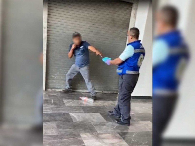 Detienen a suicida con tijeras en el Metro