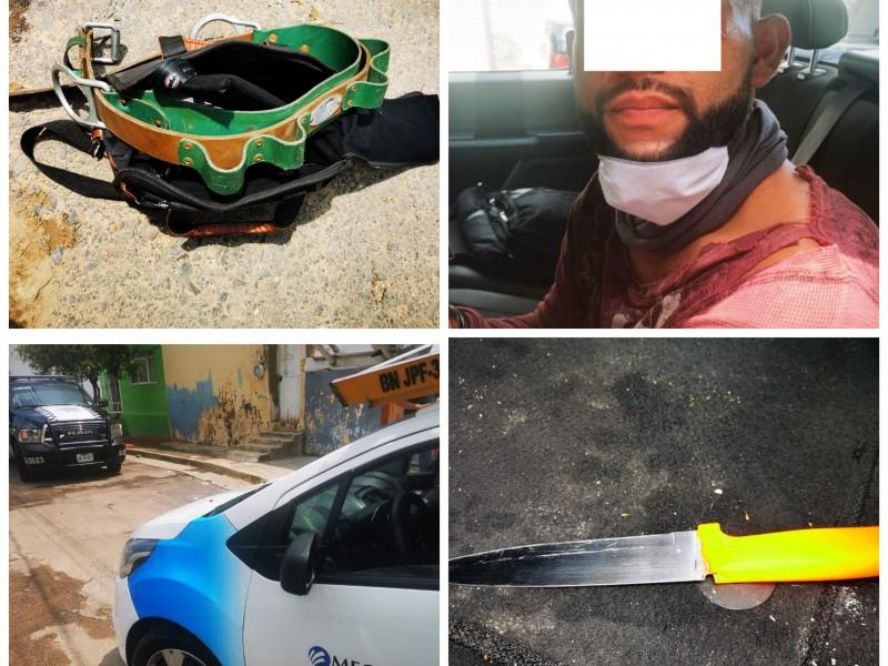 Detienen a sujeto que robó carro de Megacable