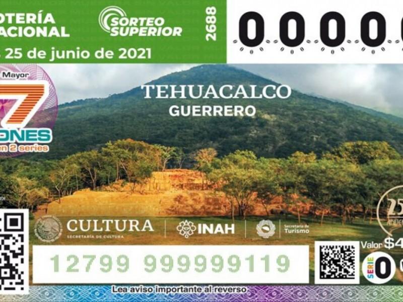 Develan billete de lotería con imagen de Tehuacalco, Guerrero