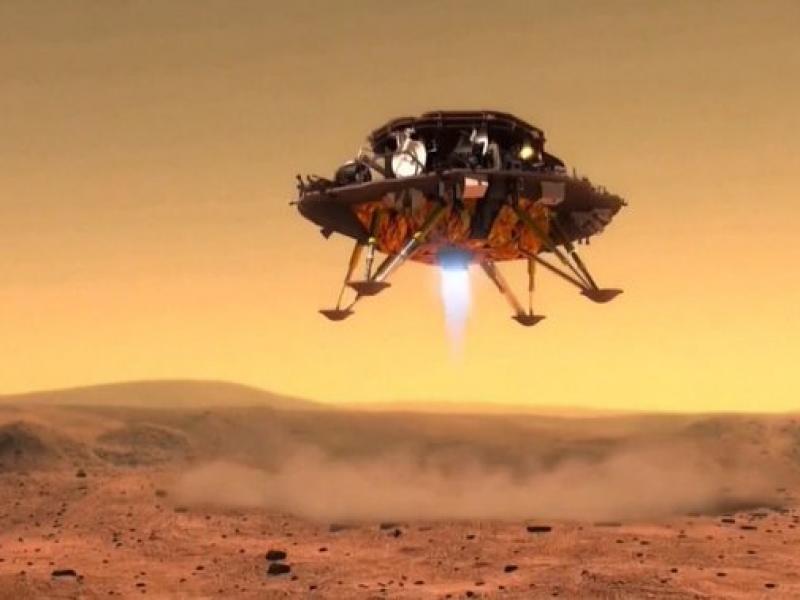 Día histórico, China llega a Marte