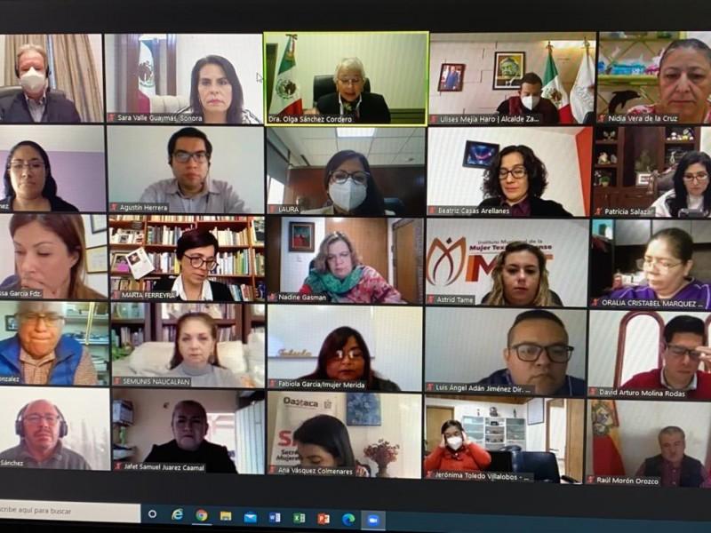 Dialoga Sara Valle con Secretaria de Gobernación Olga Sánchez Cordero