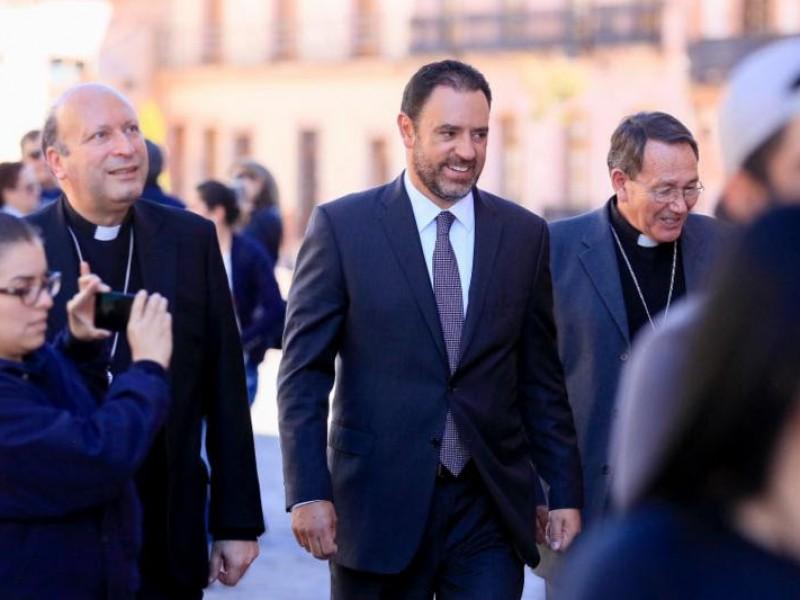Dialoga Tello con Nuncio Apostólico sobre seguridad