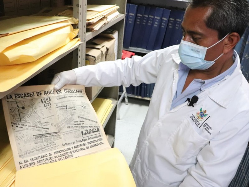 Digitalizan archivos históricos  de Querétaro