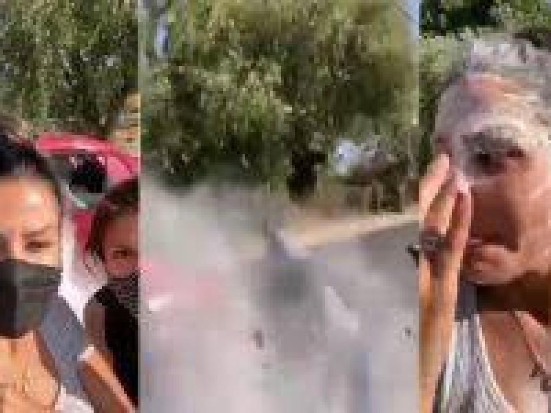 Diputada es atacada con harina y tierra en Puebla