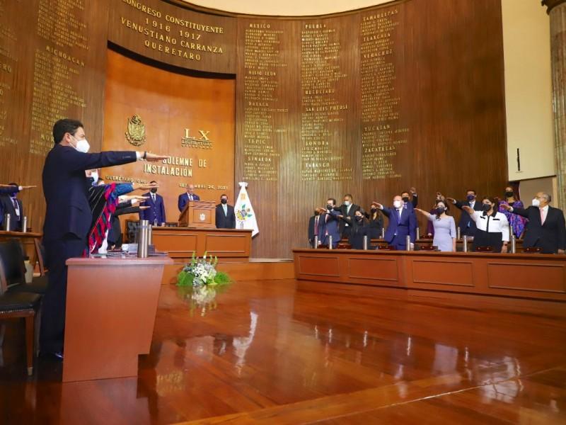 Diputados de la LX legislatura rinden protesta