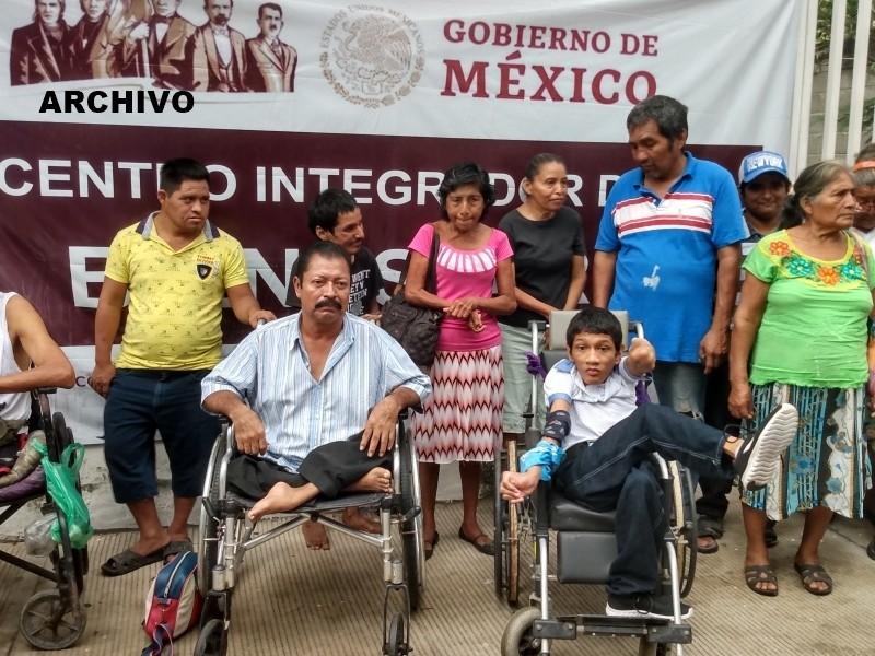 Discapacitados afectados por falta de apoyo del gobierno federal