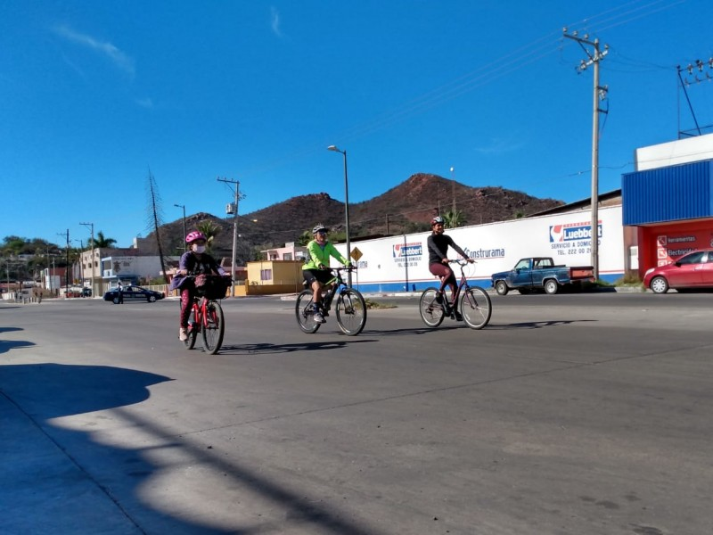 Disfrutan guaymenses de ciclovía