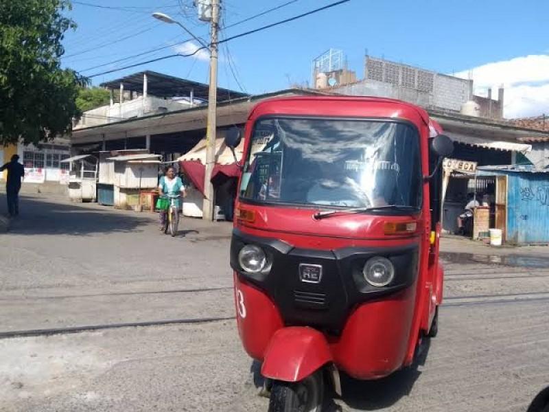 Disminución de servicios en mototaxis, golpea a choferes y concesionarios