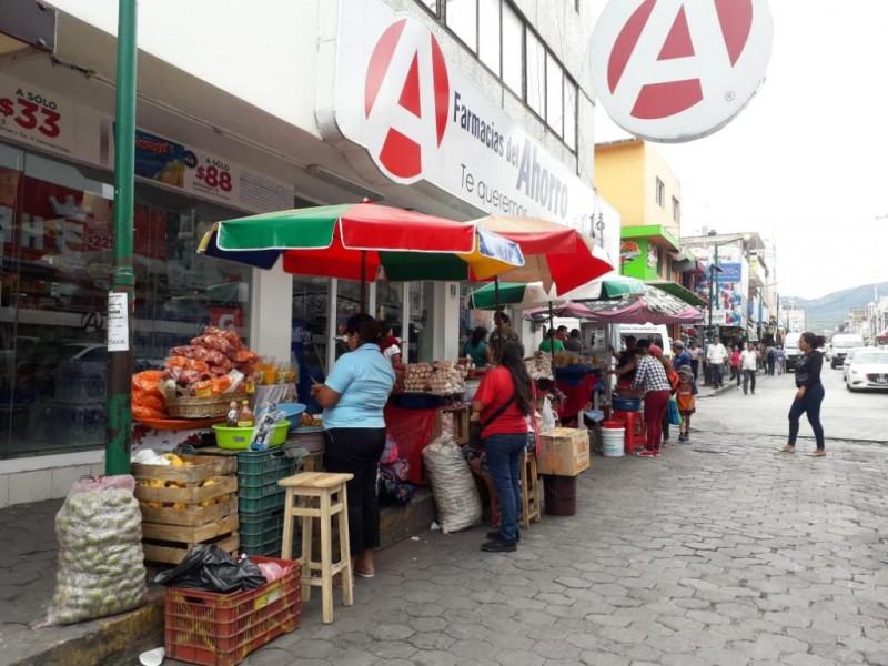 Disminuye 50 por ciento el ambulantaje en Tuxtla