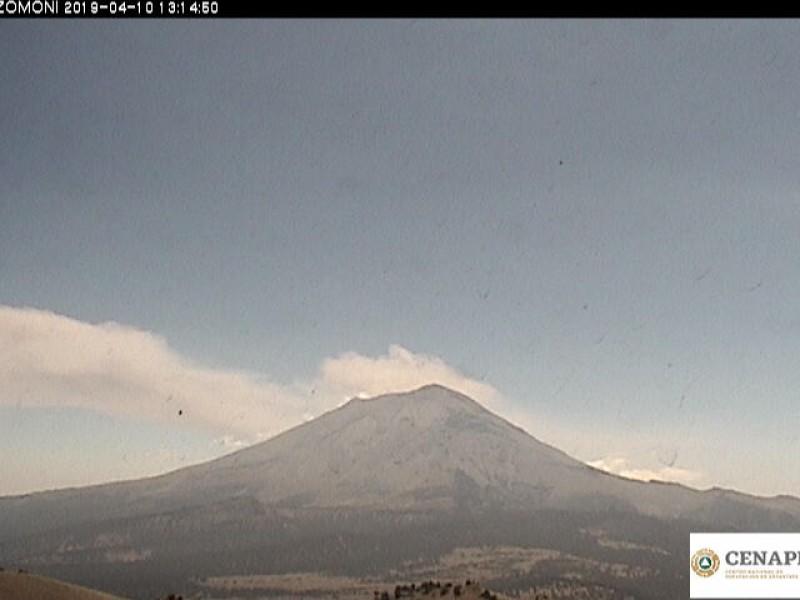 Disminuye actividad volcánica en el Popocatépetl