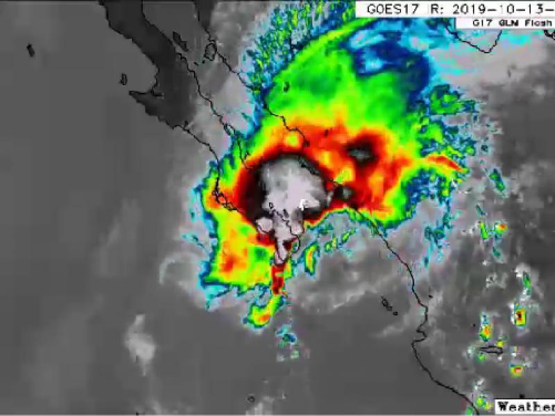 Disminuyen riesgos de conversión a ciclón en perturbación