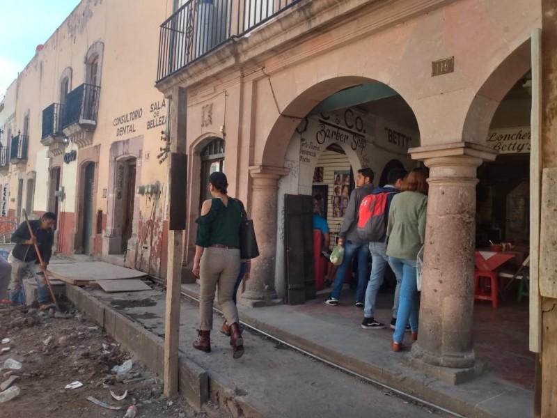 Disminuyen ventas en un 60% por obras en Calle Allende