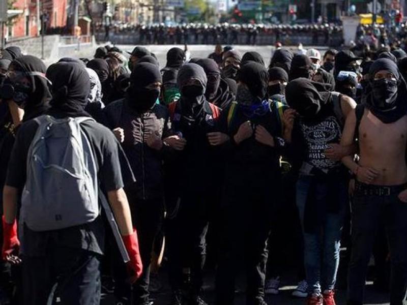 Disturbios en la CDMX durante marcha por 2 de octubre