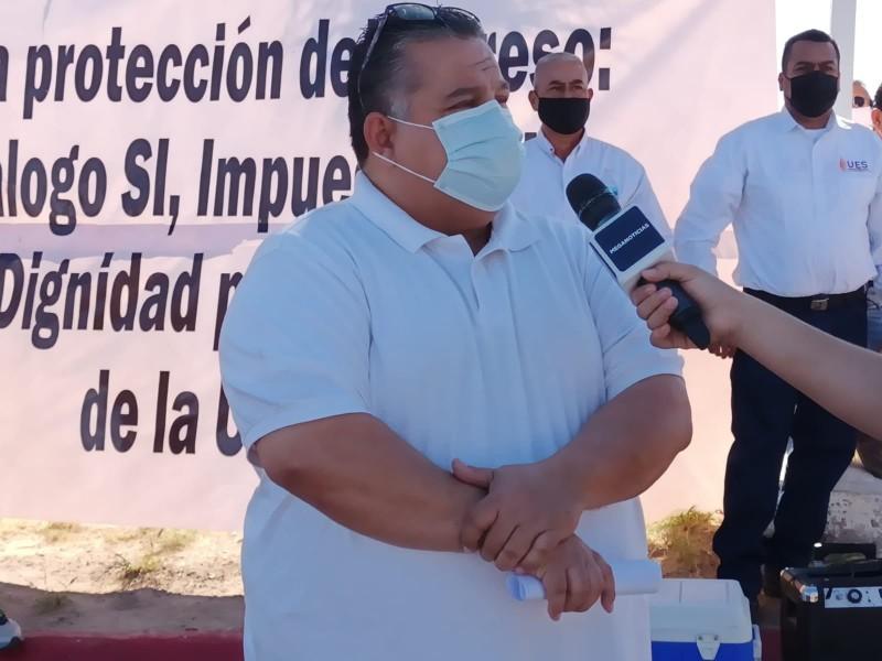 Docentes del UES en San Luis Río Colorado se manifiestan