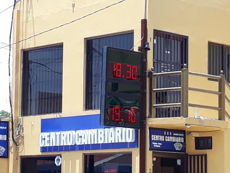 Dólar cierra semana sobre los 19 pesos