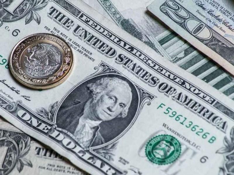 Dólar promedia en 18.60 pesos a la venta