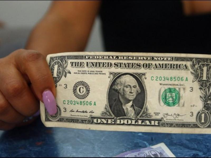 Dólar se vende en 19.18 pesos en bancos