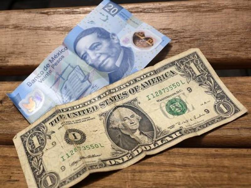 Dólar se vende hasta en 19.46 pesos