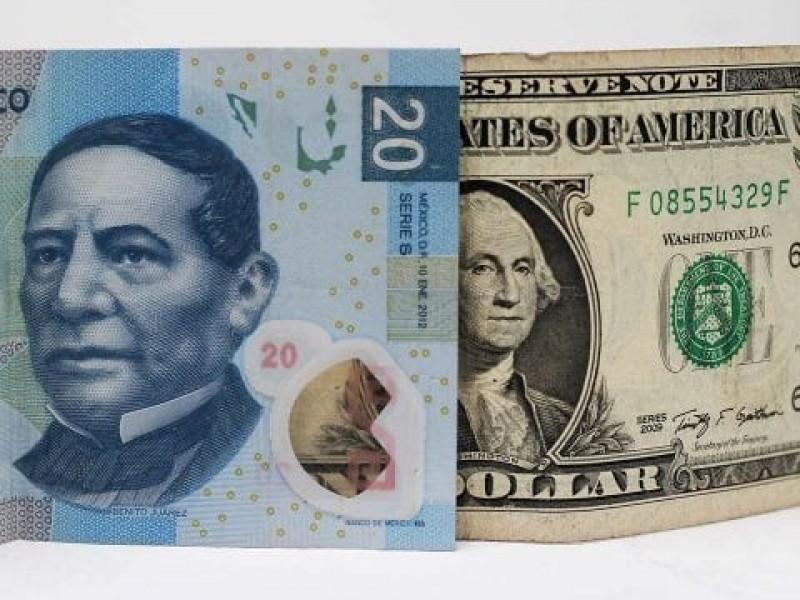 Dólar supera los 20 pesos en bancos capitalinos