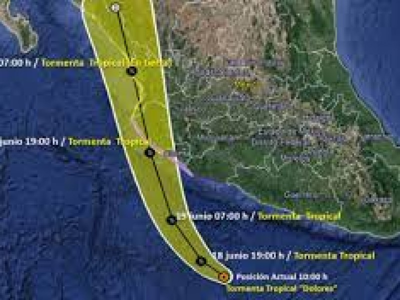 Dolores es depresión tropical pero continuará causando lluvias