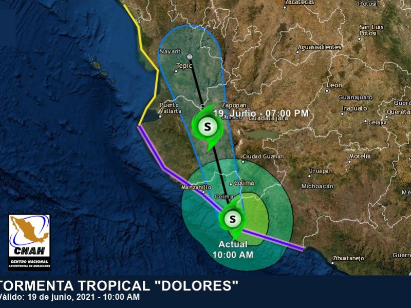 Dolores ingresó a tierra, dejará lluvias intensas en Nayarit