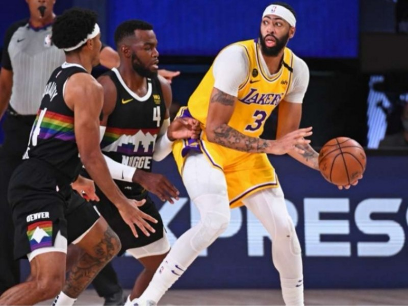 Dominio en los rebotes impuso a Lakers sobre Nuggets
