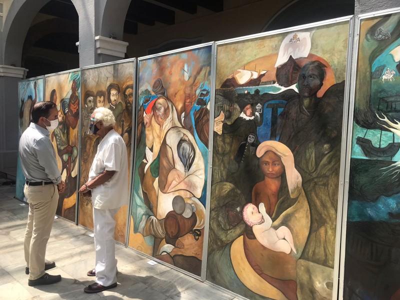 Dona el artista Melchor Peredo mural para Palacio de Veracruz