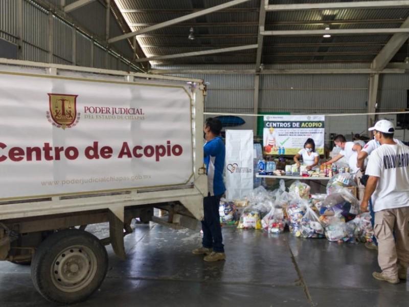 Dona PJE ayuda humanitaria para damnificados