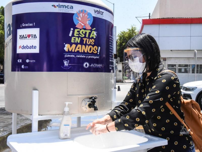 Donan 9 estaciones de lavado de manos a sindicatura Ahome