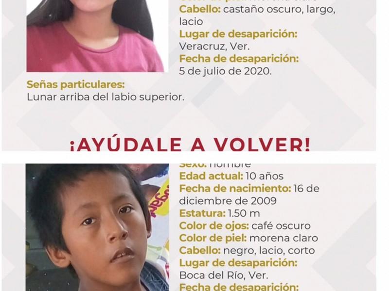 Dos menores desaparecidos en la zona conurbada