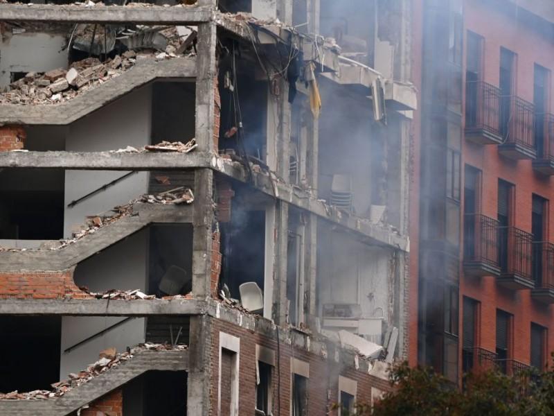 Dos muertos tras explosión de gas en centro de Madrid
