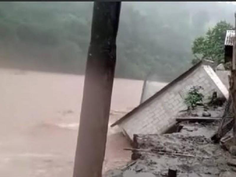 Dos viviendas colapsan en Pantelhó