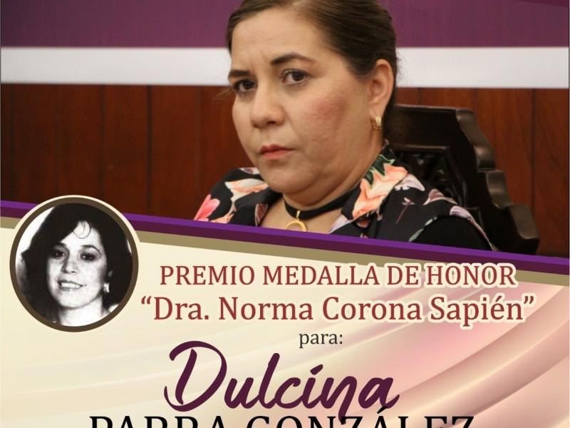 Dulcina Parra recibirá medalla