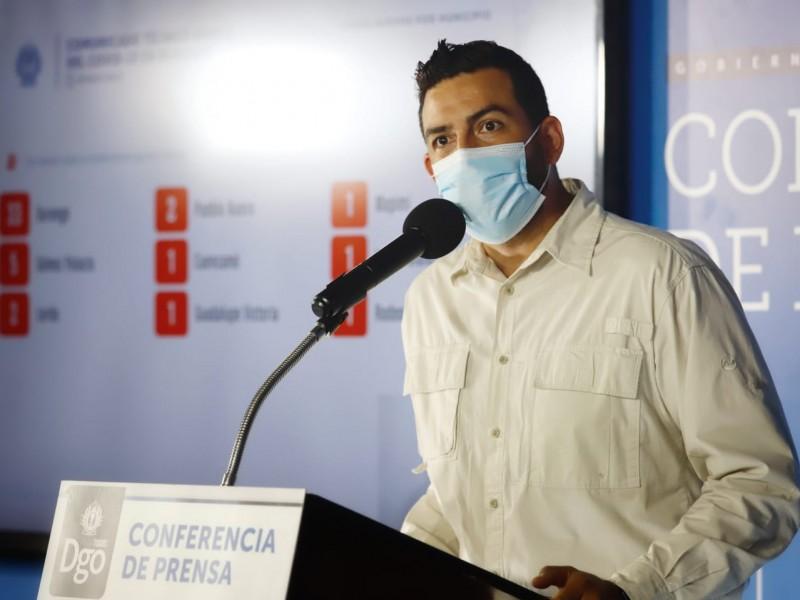 Durango reporta 47 casos positivos de COVID-19.