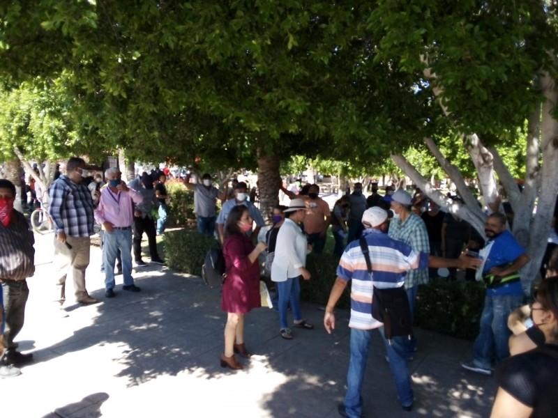 Ediles de SLRC, opinan sobre manifestación contra CFE
