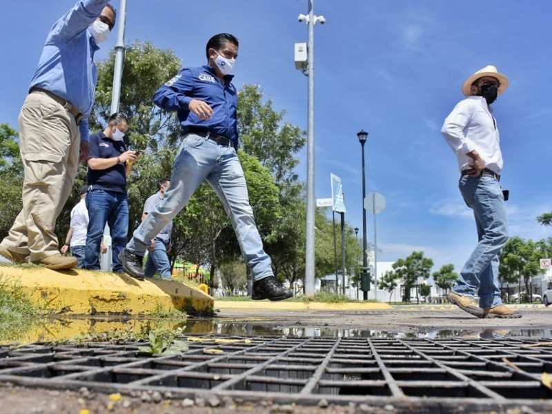 Eecorrido de supervisión de infraestructura pluvial Corregidora