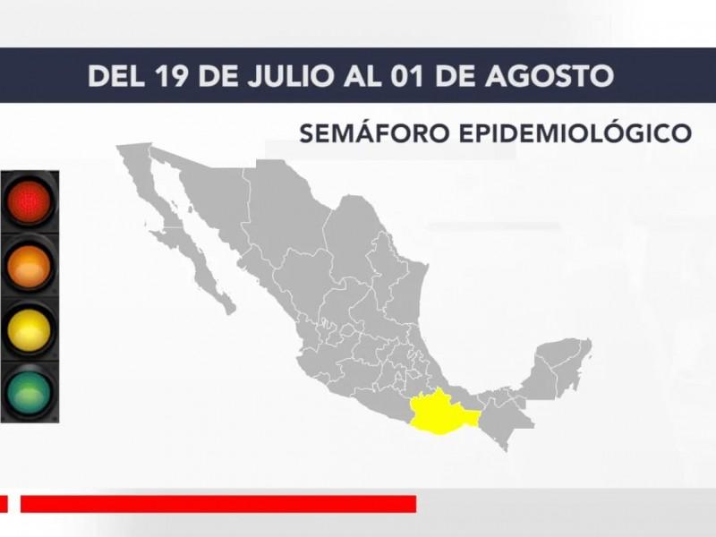 Ejecutivo estatal determina regreso de Oaxaca a semáforo amarillo