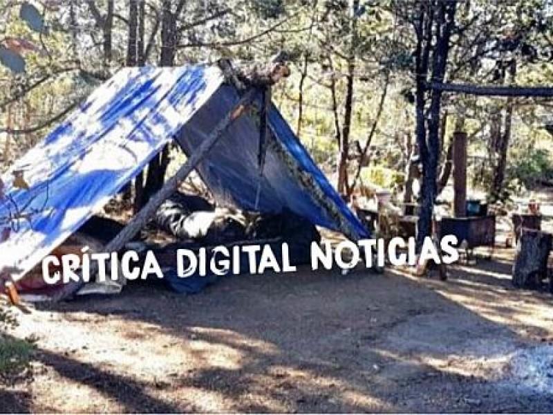 Ejército desmantela campamento del CJNG en Tepic