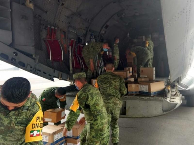 Ejército entrega insumos médicos en el país por coronavirus
