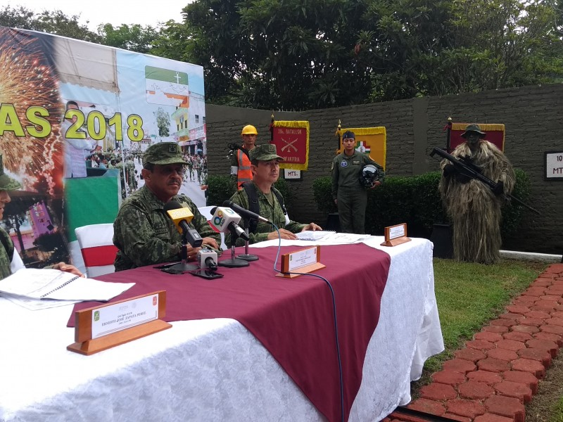 Ejército mexicano listo para festejos cívicos