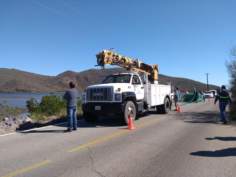 Ejidatarios de Topo Viejo detienen obra cable submarino