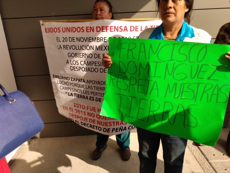 Ejidatarios en contra de proteger Peña Colorada