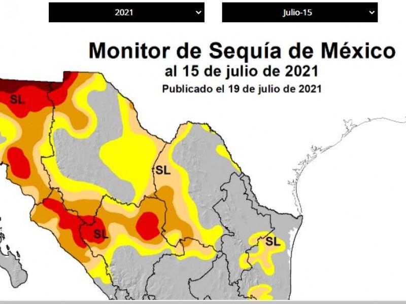 El 97% del territorio sonorense se mantiene con sequía