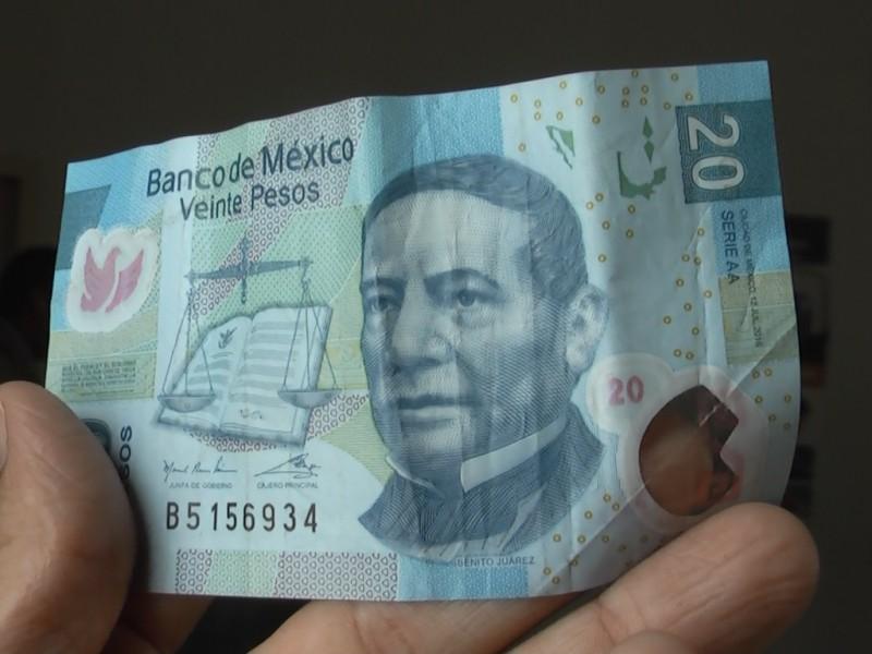 El billete de 20 pesos se va
